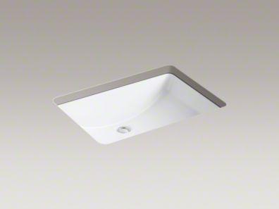 Kohler K 2215 0 Ladena 23x16 Undermount Bathroom Sink White